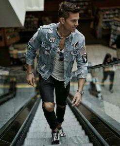 outfit de moda con chaquetas para hombres