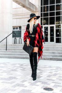 outfits con abrigos de moda para lucir en posadas navideñas