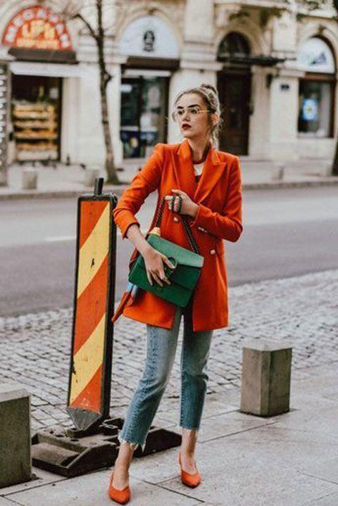 outfits en color naranja para otoño - invierno