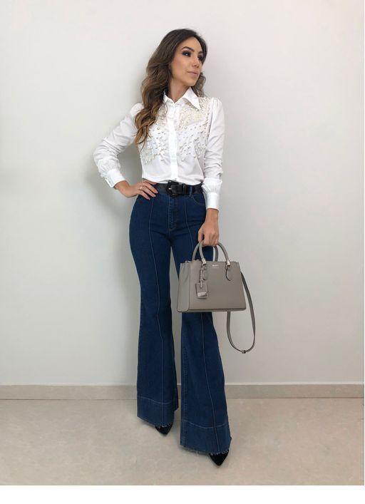 pantalon oxford mujer mezclilla