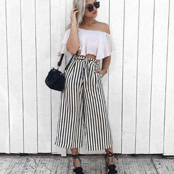 pantalones de vestir con lineas