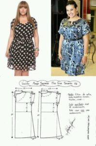patrones de vestidos gratis para gorditas cortos