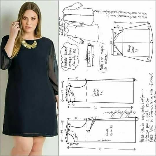 patrones de vestidos para gorditas