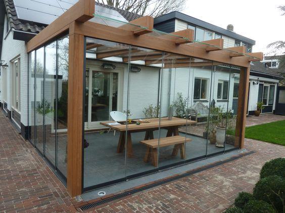 pergolas de hierro para el jardin con techos transparentes