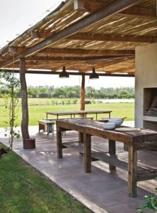 pergolas de madera para el jardin rusticas