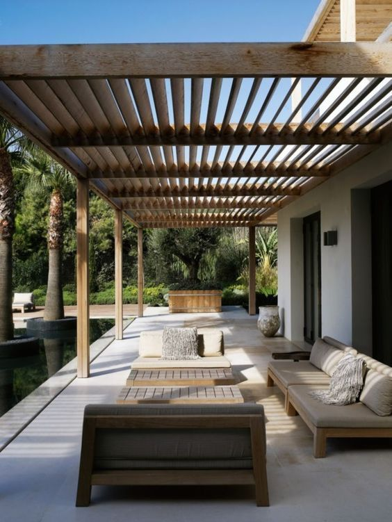 pergolas para el jardin minimalistas
