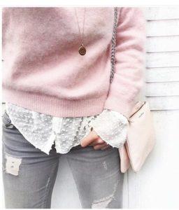 rosa dulce para representar la moda otoño - invierno