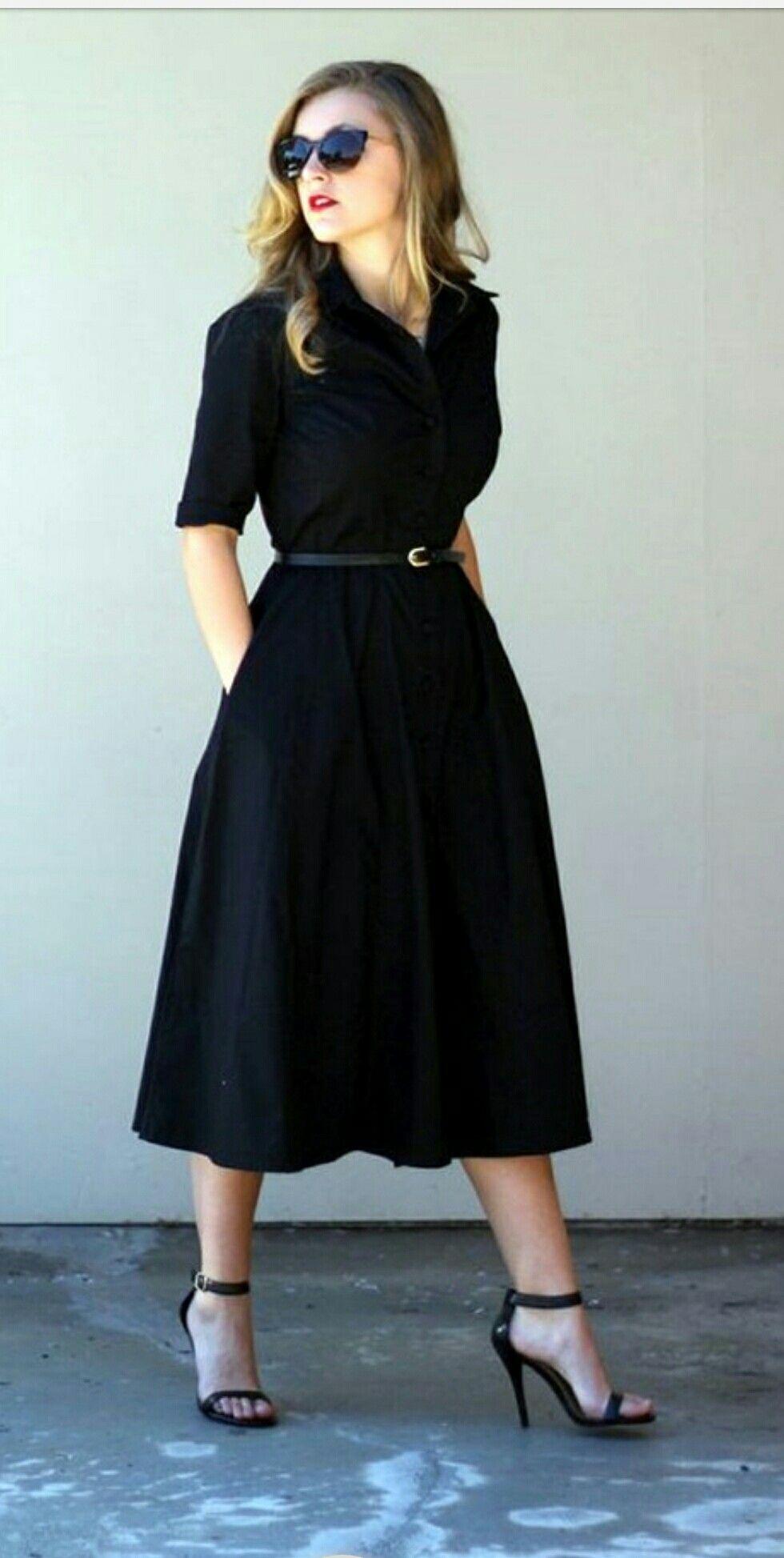 vestidos corte circular para oficina