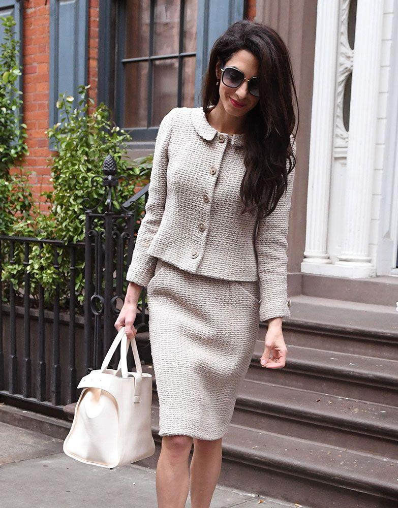 vestidos de oficina con blazer elegantes