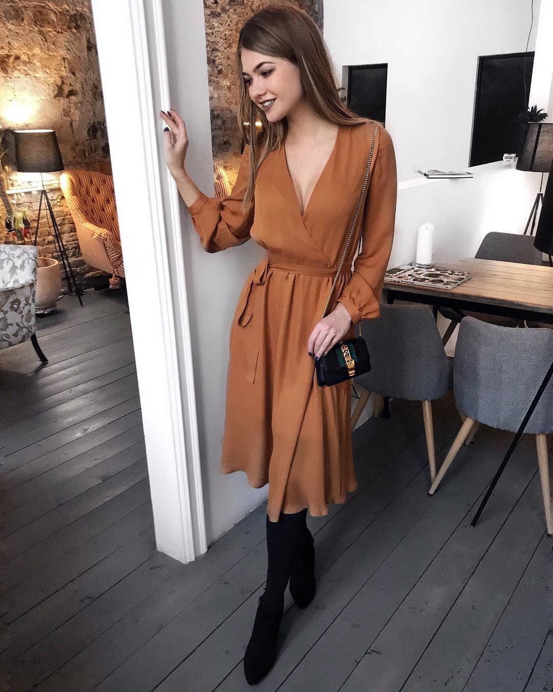 vestidos elegantes para oficina 2019 - 2020