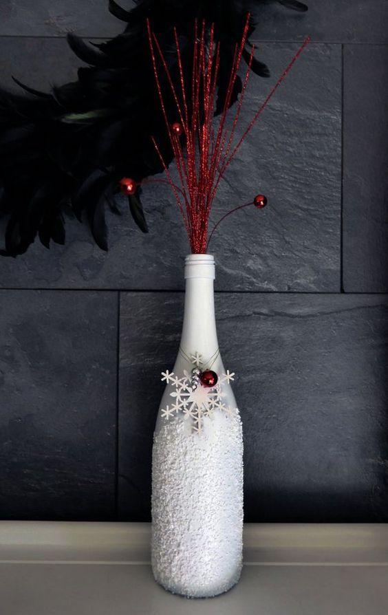 botellas con estilo navideño economicas
