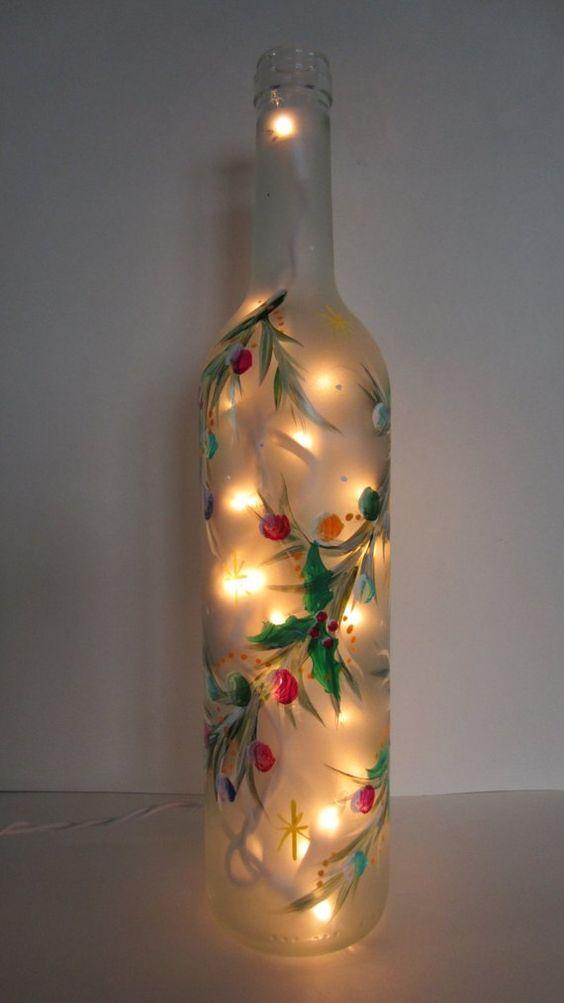 botellas con estilo navideño modernas elegantes