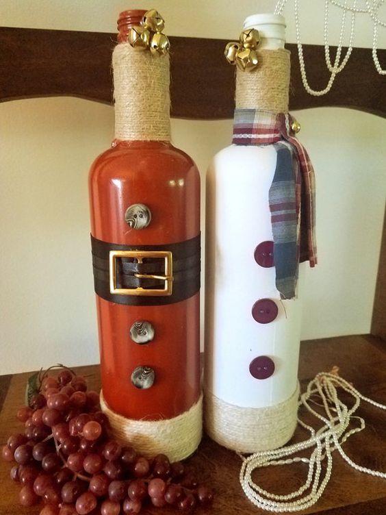 botellas navideñas faciles de hacer
