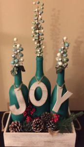 botellas pintadas navideñas