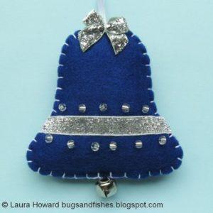 campanas navideñas de fieltro elegantes
