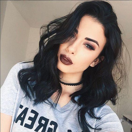 color cabello otoño - invierno negro intenso