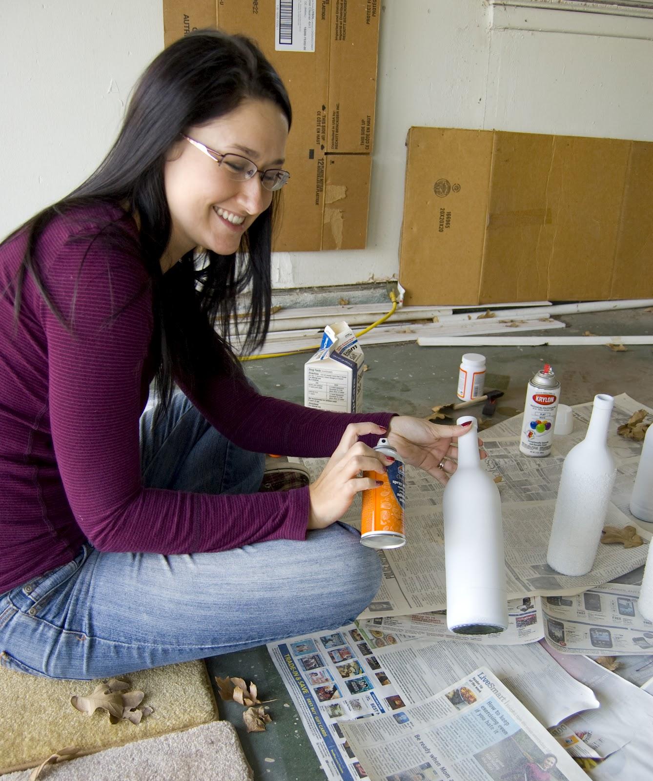 como decorar botellas navideñas paso a paso