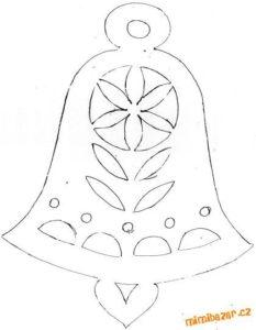 moldes de campanas navideñas en fieltro para imprimir