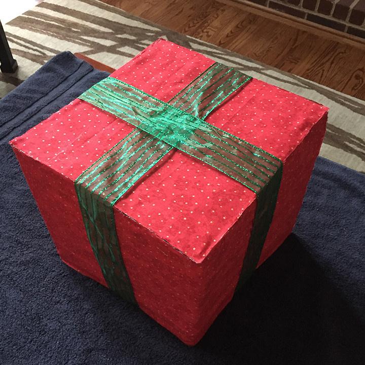 paso a paso para elaborar regalos de navidad gigantes para exterior