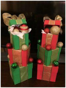 regalos navideños para exterior con cajas de carton