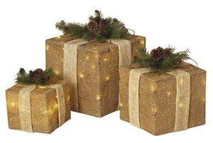 regalos navideños para exterior con yute