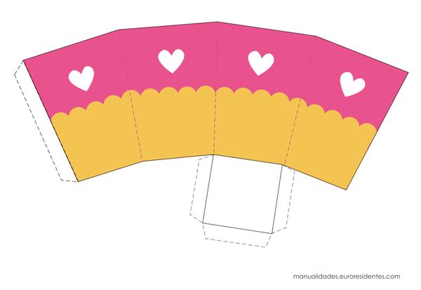 Cajitas imprimibles de san valentin