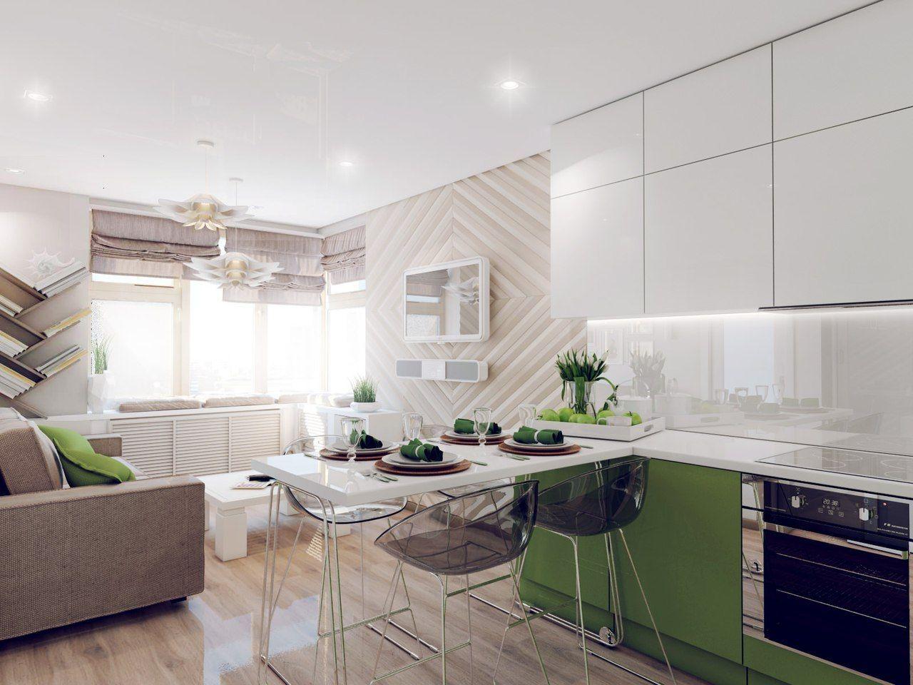 Cocinas pequeñas con comedor estilo minimalistas