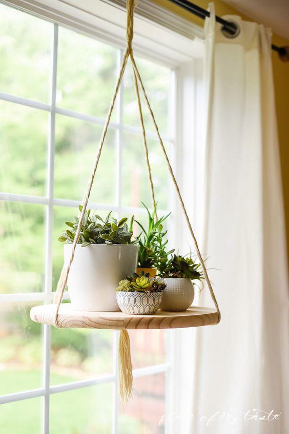 Decoracion con plantas colgantes