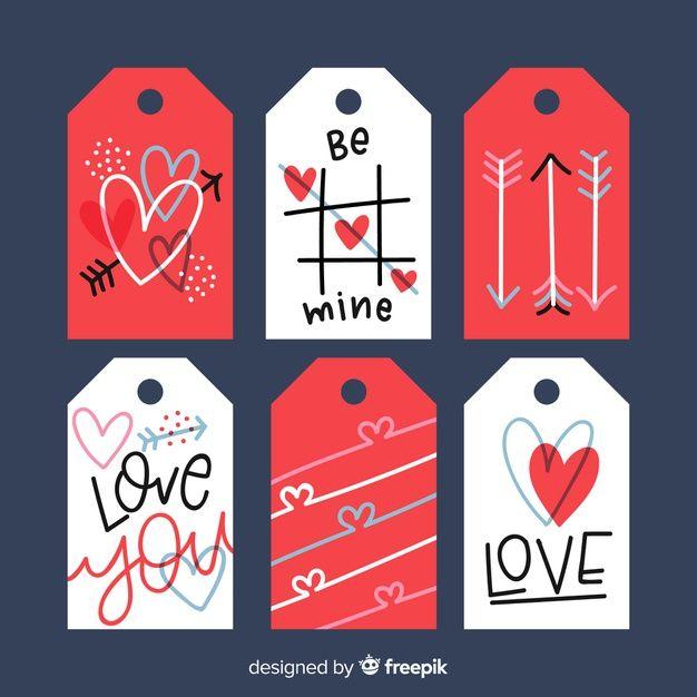 Etiquetas imprimibles para san valentin