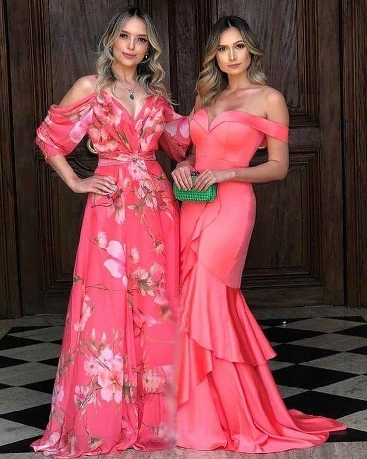 Ideas de vestidos largos con hombros descubiertos para usar en un evento especial