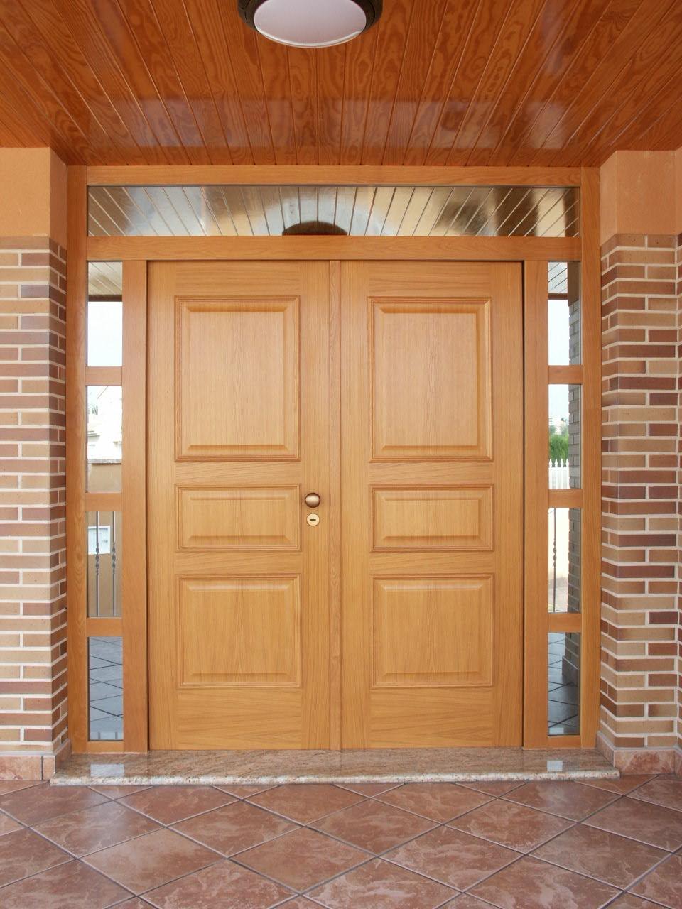 Puertas de ingreso principal doble hoja