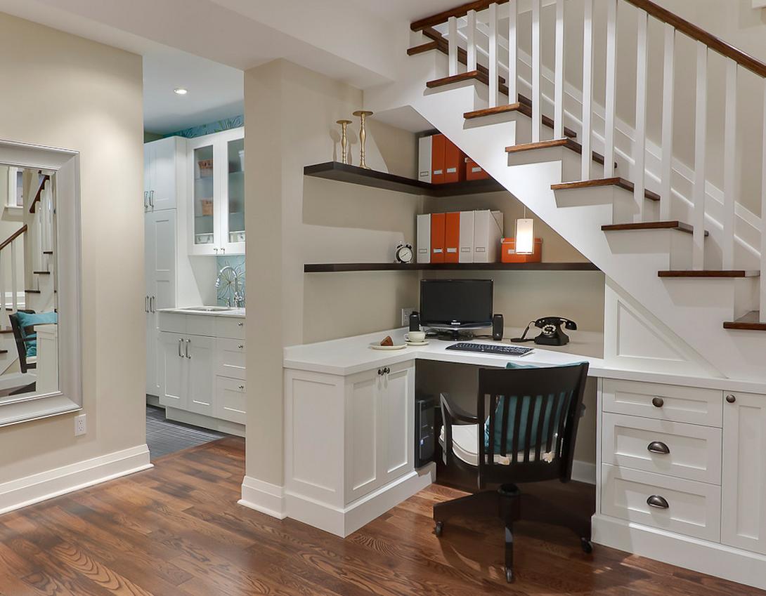 Oficina en casa - aprovecha las escaleras