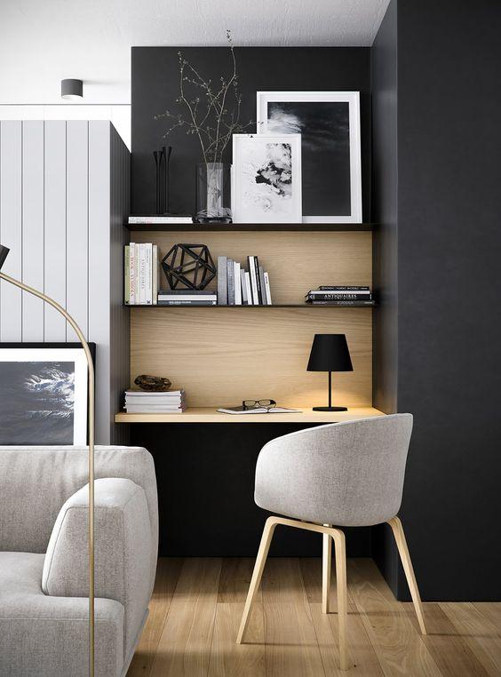 Oficina en casa - en la sala de estar