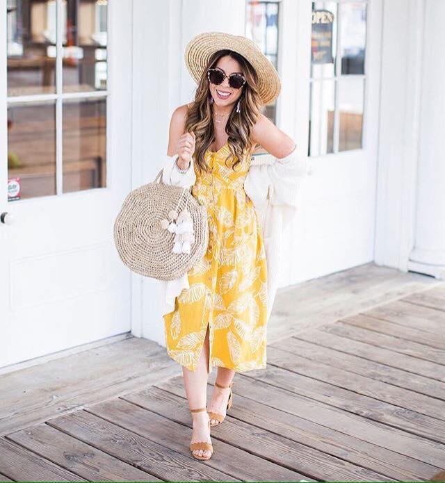 Outfits para la playa con vestido