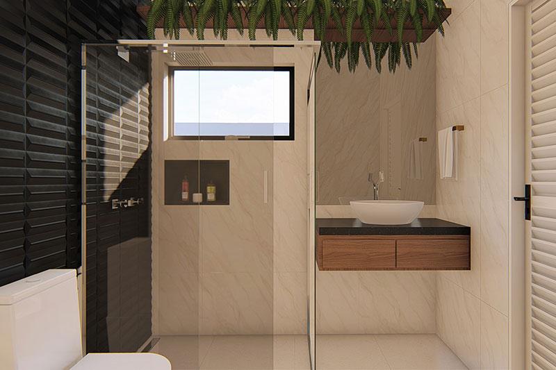 Baños de casas para construir en terrenos grandes