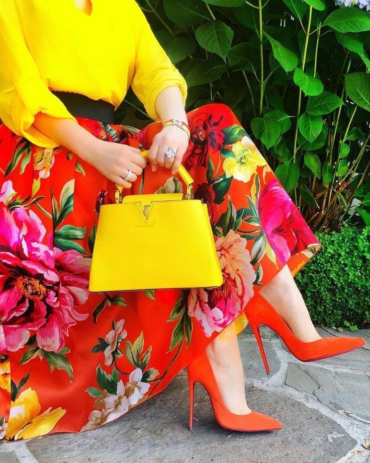 Estas combinaciones de colores te harán lucir muy elegante en esta primavera - falda larga