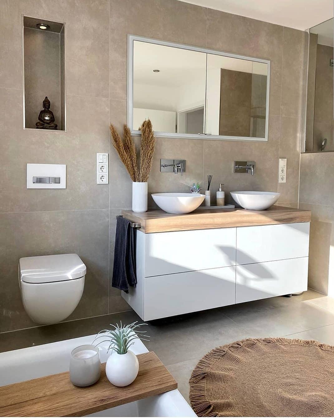 Altura de barra de baño o encimera de baño