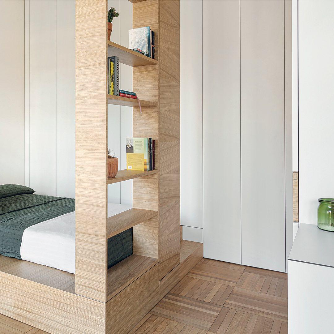 Habitación en planos de minidepartamento de 30 metros cuadrados