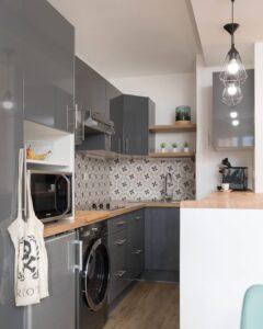 Minidepartamento de 30 metros cuadrados con cocina
