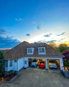 Planos de casa de campo con garage elegante