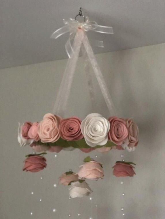 Carrillón de viento colgante rosa palo