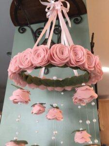 Carrillones de viento de rosas circular