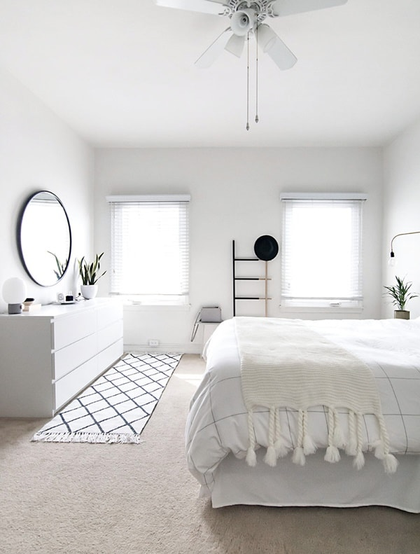 Colores para dormitorios en blanco