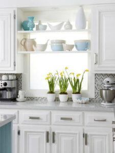 Decoración low cost para cocina en color blanco