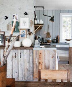Madera para cocina en decoración low cost