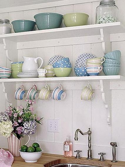 Repisas low cost para decoración de cocina