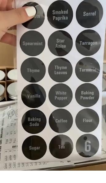 Cómo organizar los gabinetes de tu cocina con etiquetas