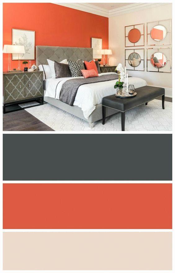 Paleta de colores para interiores en habitación