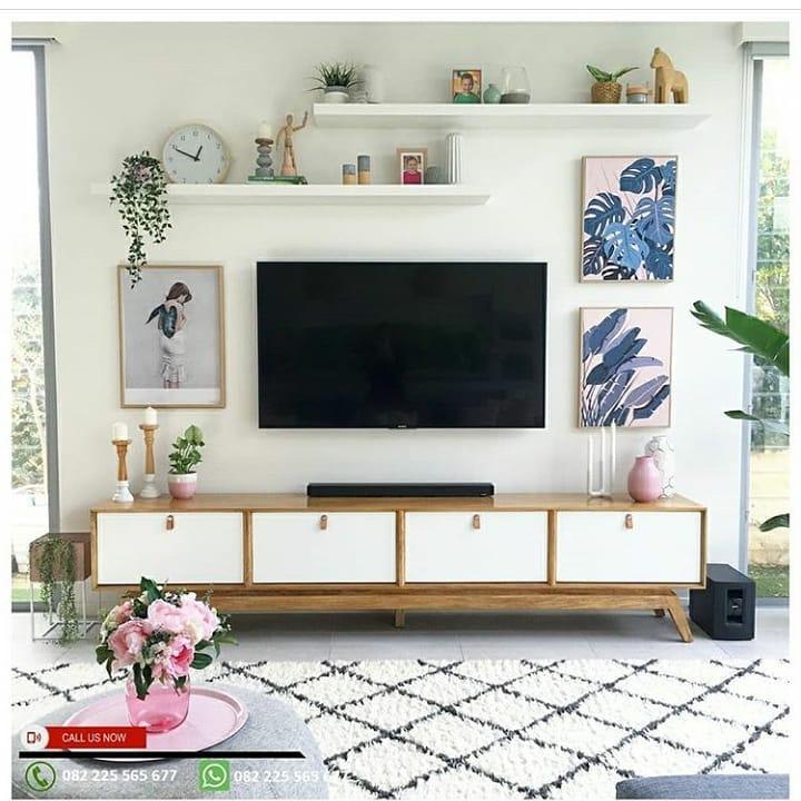 Cómo decorar con tonos claros el área de TV