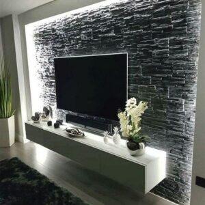 Cómo decorar el área de la televisión con piedra
